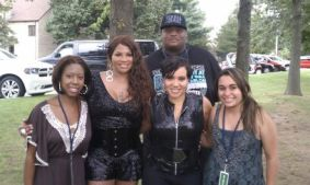Kristen Maldonado & Salt N Pepa at Fall Festival