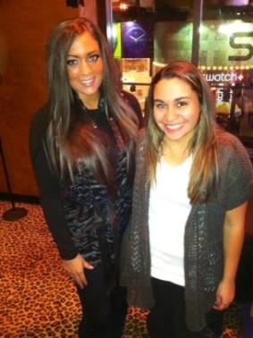 "Kristen Maldonado & Samantha ""Sammi Sweetheart"" Giancola at Planet Hollywood"