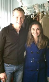 Kristen Maldonado & Adam Pascal backstage at Broadway's Memphis