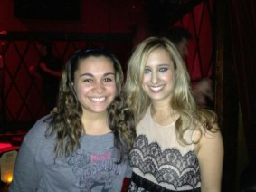Kristen Maldonado & country singer Risa Binder at Rockwood Music Hall