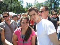 Kristen Maldonado & Andrew Garfield during Spider-Man Week