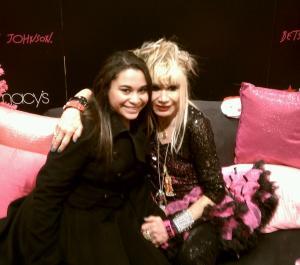 Kristen Maldonado & Betsey Johnson at the #BetseyHeartsMacys event at Macy's