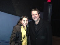 Kristen Maldonado & 'John Dies at the End' director John Coscarelli at the NYC screening
