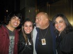 Kristen Maldonado & family with comedian Rick Gutierrez at Radio City Music Hall