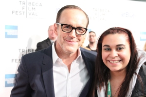 Clark Gregg & Kristen Maldonado on the 'Trust Me' red carpet at Tribeca Film Festival 2013