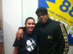 Kristen Maldonado & rapper Mims at WRHU