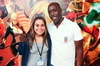 Kristen Maldonado & actor Michael Kenneth Williams at the Marvel Offices