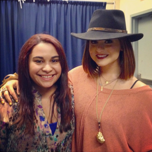 Kristen Maldonado & singer JoJo at her NYC show
