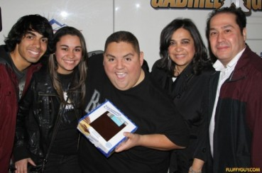 Kristen Maldonado & family with Fluffy Guy comedian Gabriel Iglesias at Radio City Music Hall