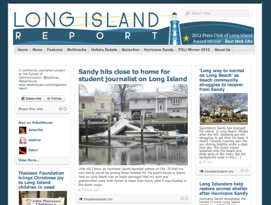 Sandy hits close to home for student journalist on Long Island