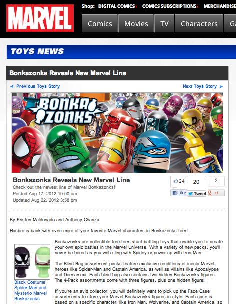 Bonkazonks reveals new Marvel line