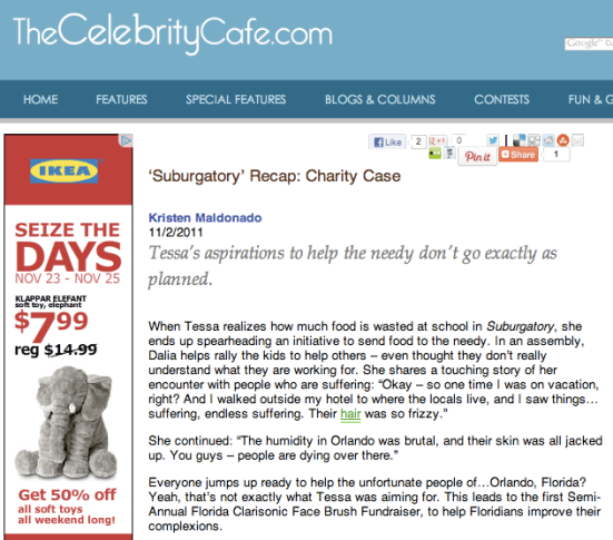 'Suburgatory' Recap: Charity Case