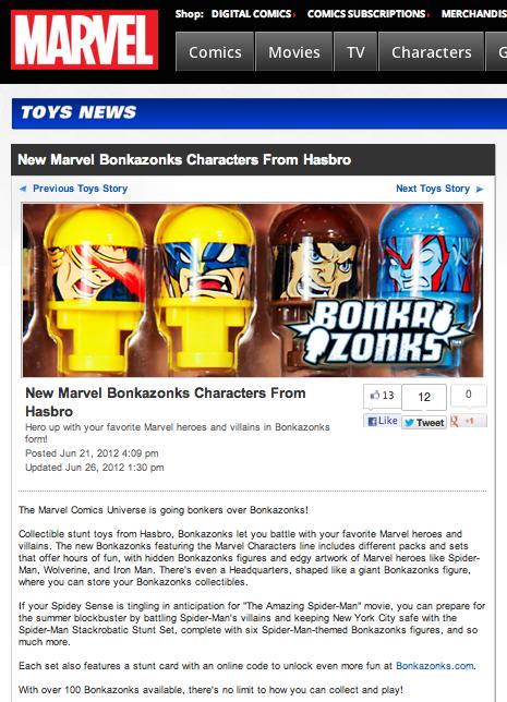 New Marvel Bonkazonks characters from Hasbro