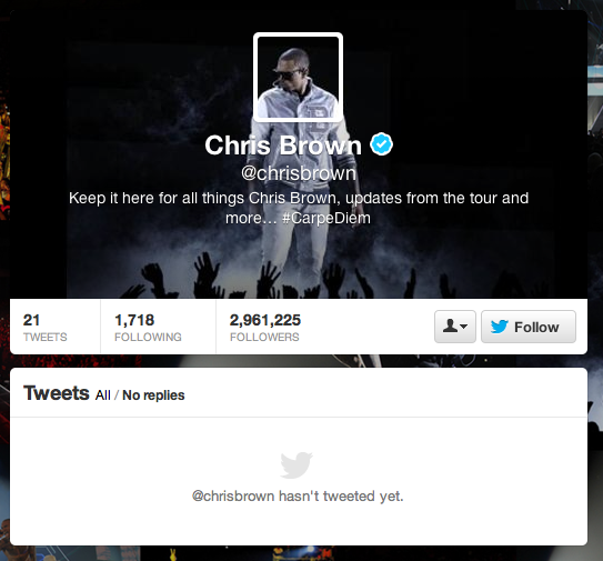 Chris Brown restores Twitter account