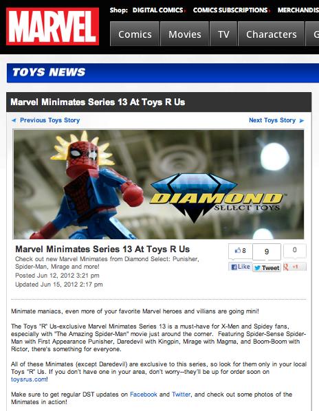 Marvels Minimates Series 13 at Toys R Us