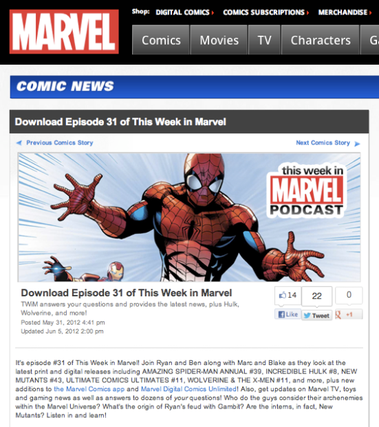 "Episode 31 of ""This Week in Marvel"""