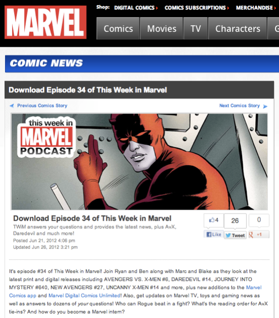 "Episode 34 of ""This Week in Marvel"""