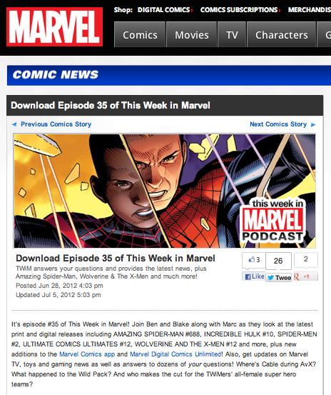 "Episode 35 of ""This Week in Marvel"""