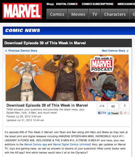 "Episode 39 of ""This Week in Marvel"""
