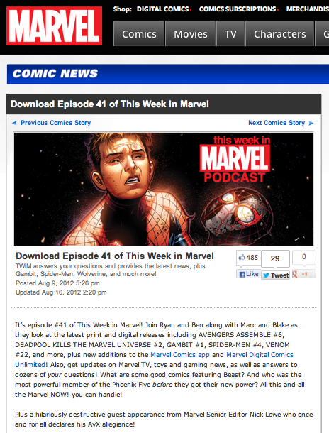 "Episode 41 of ""This Week in Marvel"""