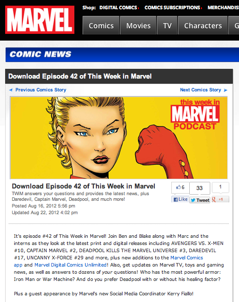 "Episode 42 of ""This Week in Marvel"""