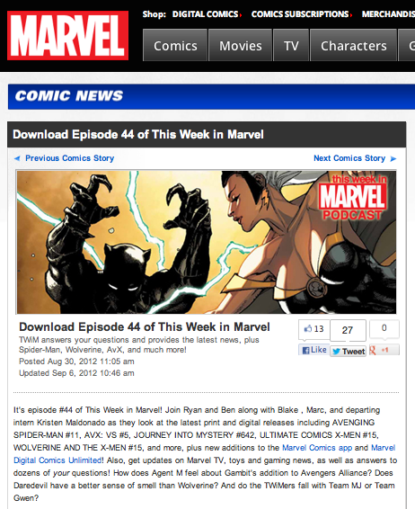 "Episode 44 of ""This Week in Marvel"""