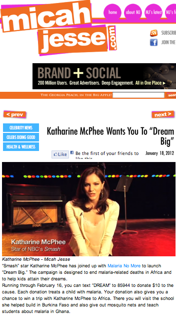 "Katharine McPhee wants you to ""Dream Big"""