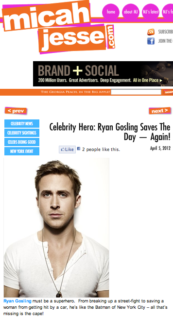 Celebrity Hero: Ryan Gosling saves the day -- again!