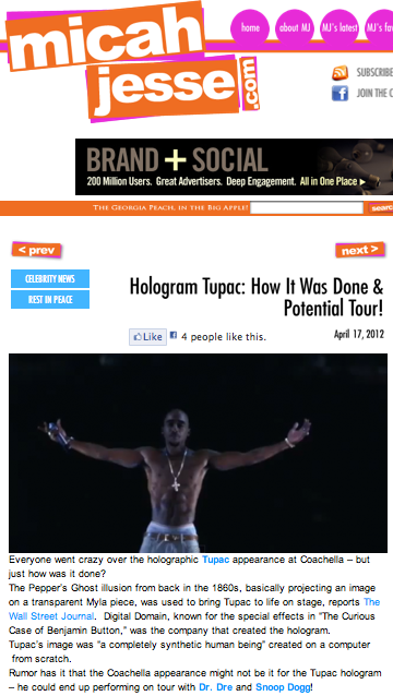 Hologram Tupac: How it was done & potential tour!