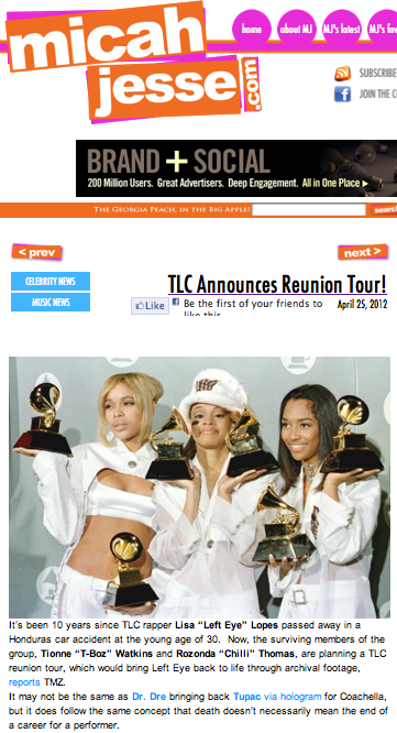 TLC announces reunion tour!