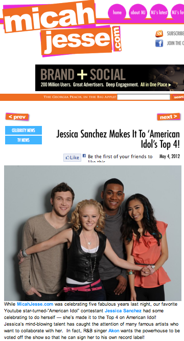 Jessica Sanchez makes it to 'American Idol's' Top 4