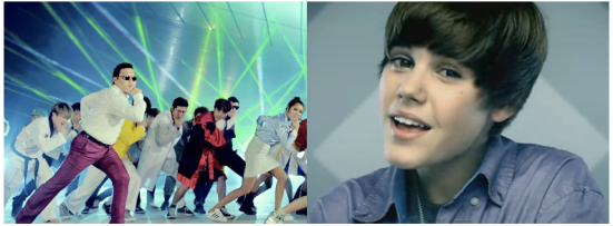 "Psy's ""Gangnam Style"" beat Justin Bieber's ""Baby"" as most viewed video on YouTube"