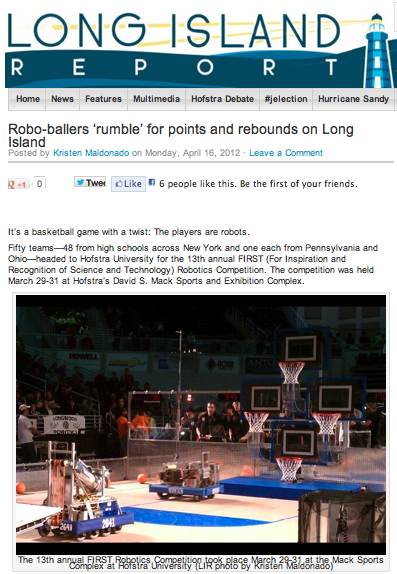 Robo-ballers 'rumble' for points and rebounds on Long Island