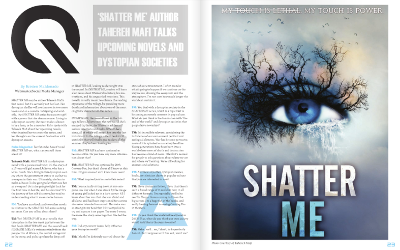 'SHATTER ME' author Tahereh Mafi talks upcoming novels and dystopian societies