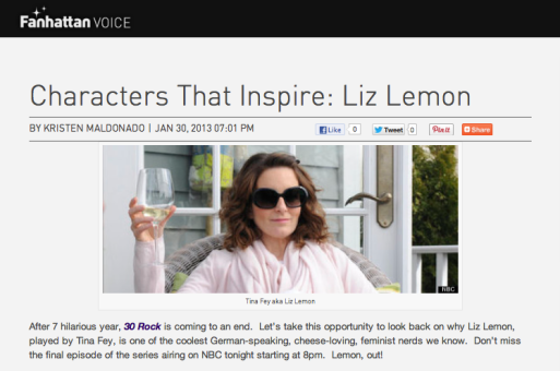 Characters That Inspire: Liz Lemon