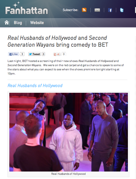 'Real Husbands of Hollywood' and 'Second Generation Wayans' bring comedy to BET