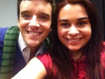 Michael Urie & Kristen Maldonado at the 'He's Way More Famous Than You' screening