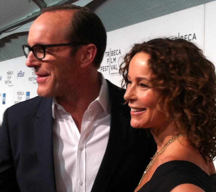 Clark Gregg and Jennifer Grey on the Tribeca Film Festival red carpet for 'Trust Me.'