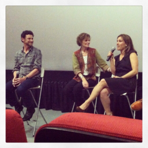 Lawrence Blume, Judy Blume, and Amy Jo Johnson at the 'Tiger Eyes' opening night screening