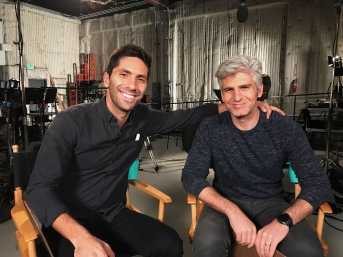 Nev and Max on the set of a video shoot for MTV's Catfish