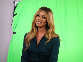 Laverne Cox at a video shoot for MTV's Faking It