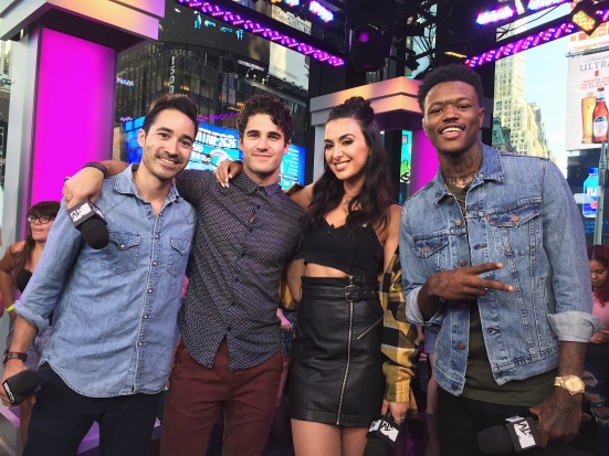 Darren Criss and Chuck Criss with Tamara Dhia and DC Young Fly on MTV's Summer in the City