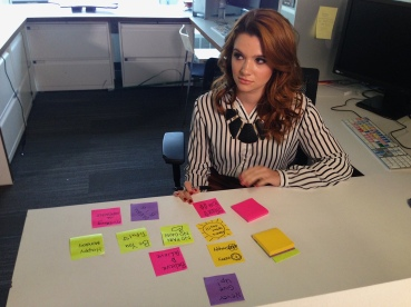 Katie Stevens at the Good Karma video shoot for MTV's Faking It