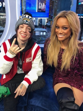Lil Xan and Tyra Banks on MTV's TRL