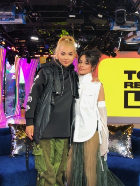 Hayley Kiyoko and Camila Cabello on MTV's TRL