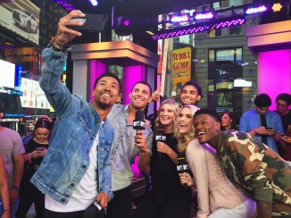 DC Young Fly, Lawrence K. Jackson, and the cast of Siesta Key on MTV's Summer in the City