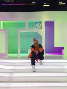 Social media star Arii on the TRL set