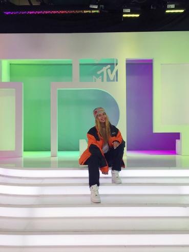 Social media star Arii on the TRL set